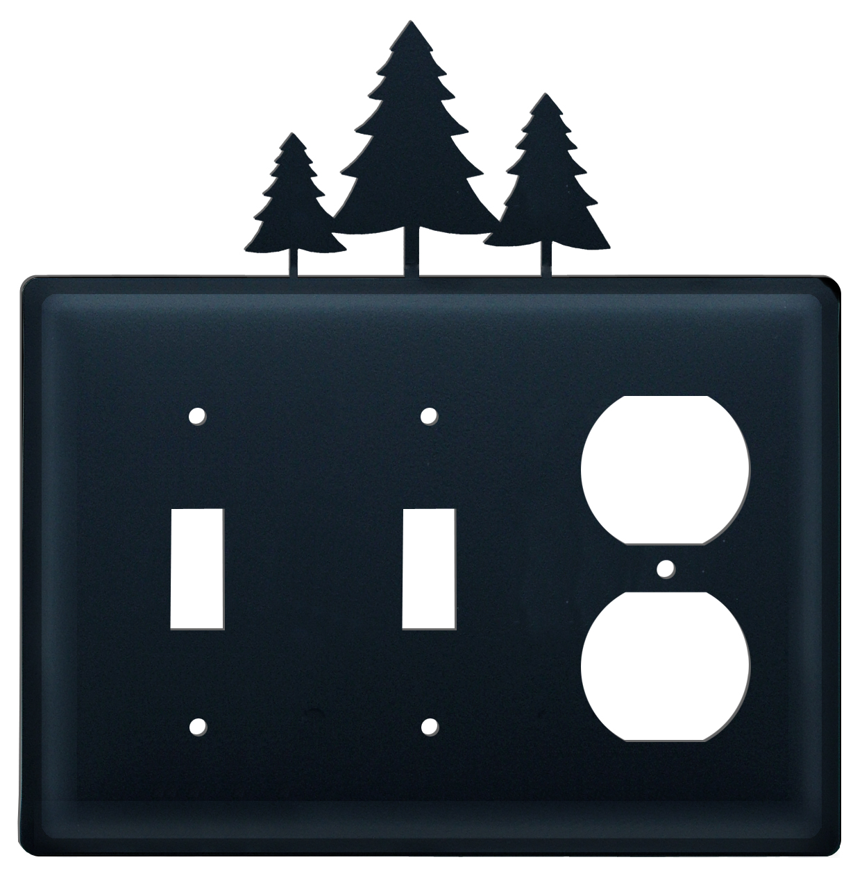 Pine Trees - Double Switch & Single Outlet Cover