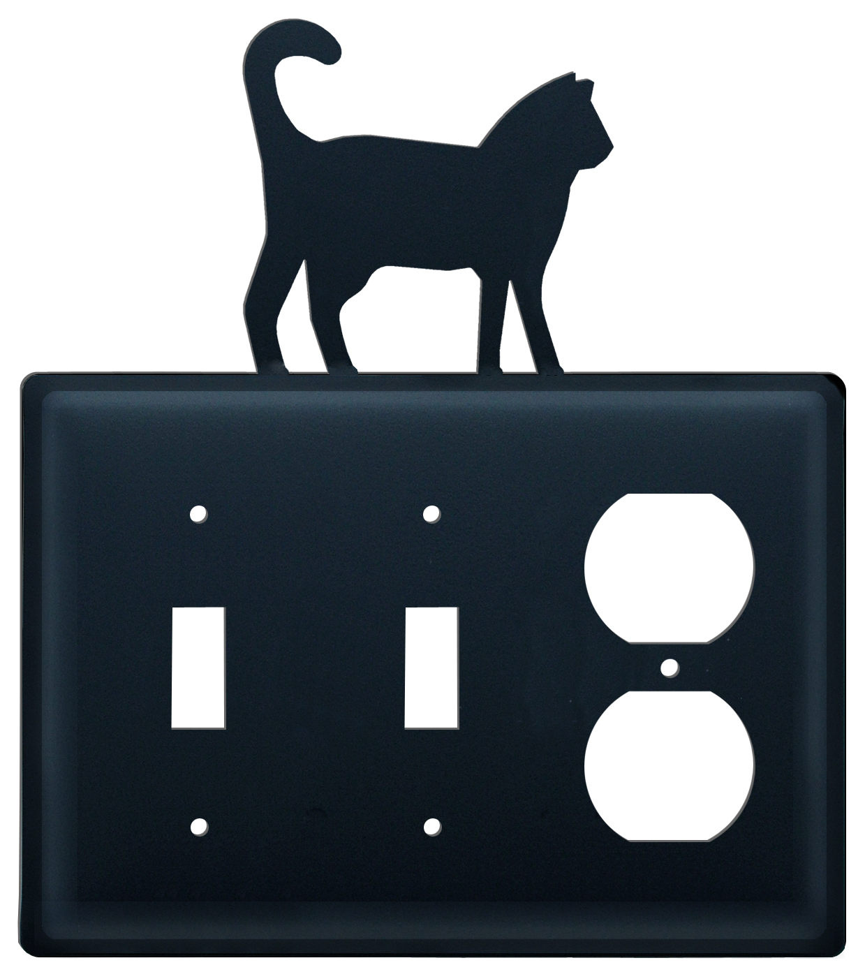 Cat - Double Switch & Single Outlet Cover