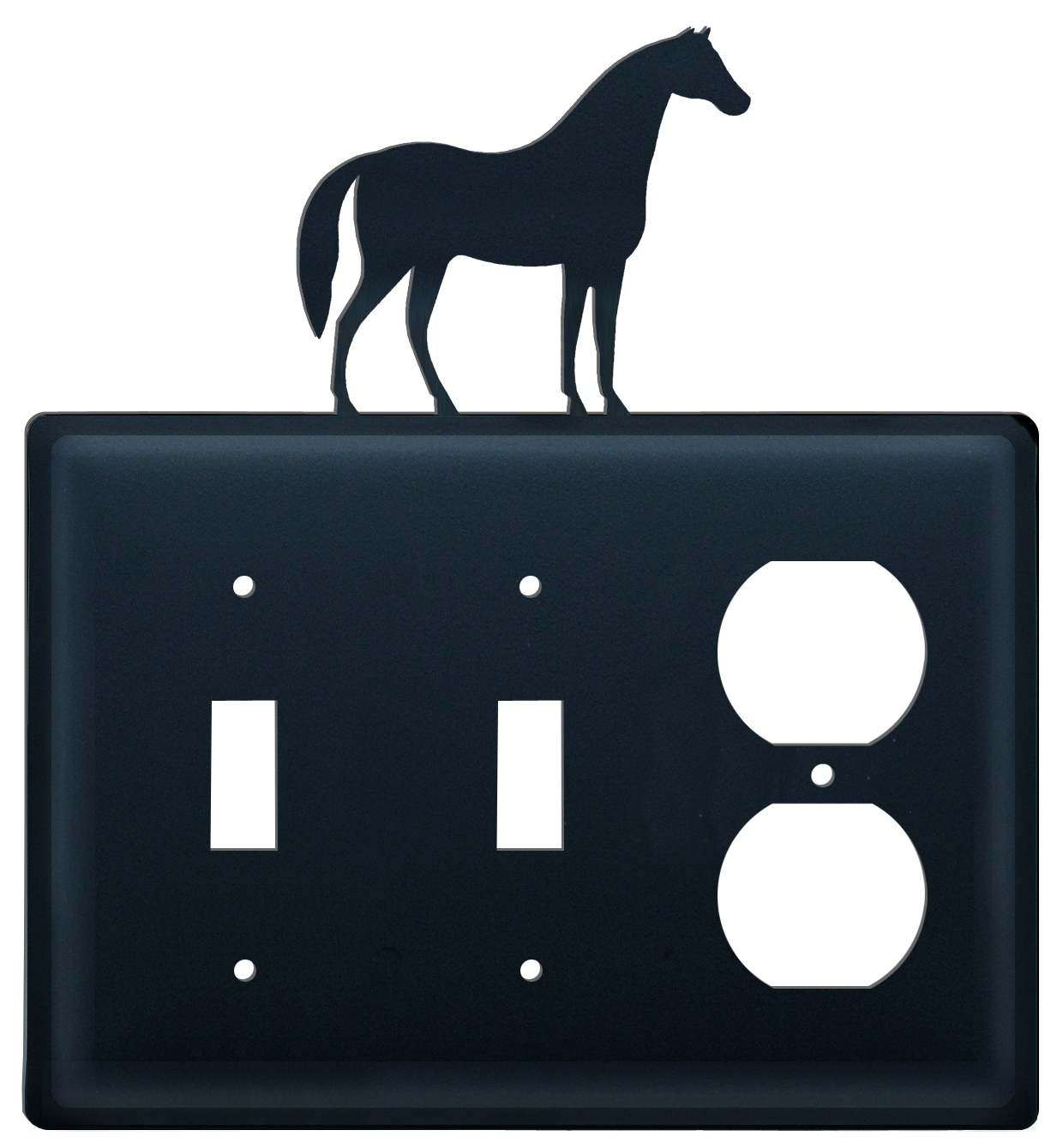 Horse - Double Switch & Single Outlet Cover