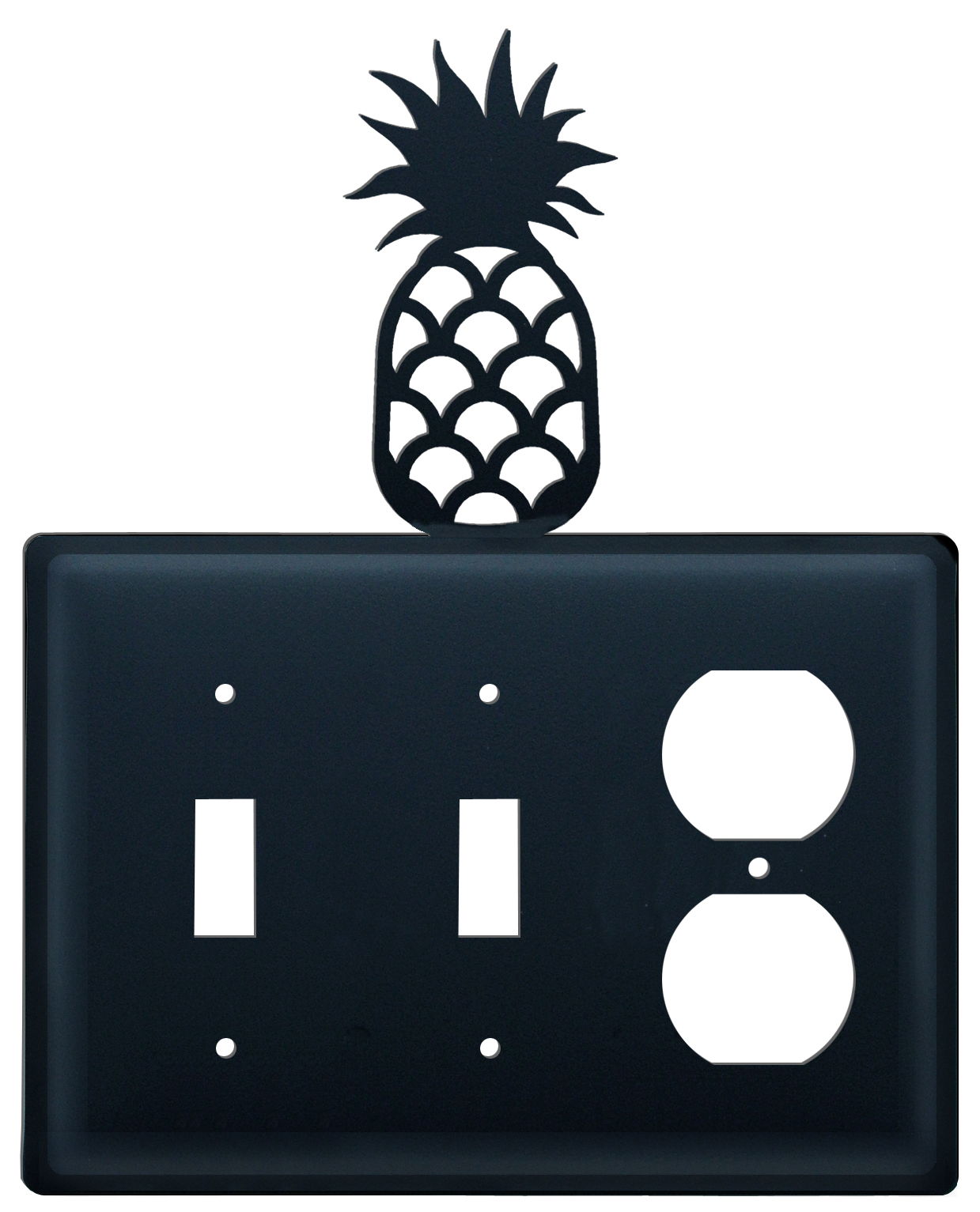 Pineapple - Double Switch & Single Outlet Cover