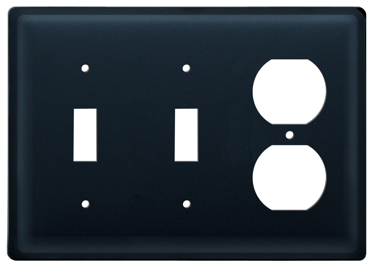 Plain - Double Switch & Single Outlet Cover