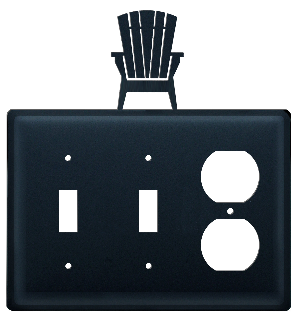 Adirondack - Double Switch & Single Outlet Cover