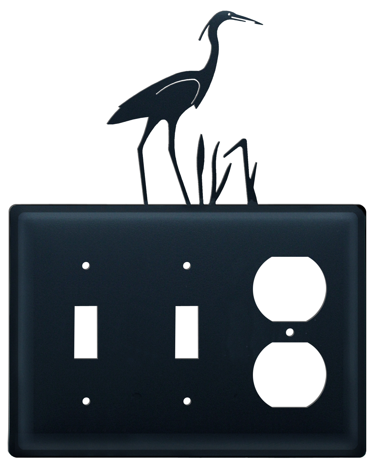 Heron - Double Switch & Single Outlet Cover