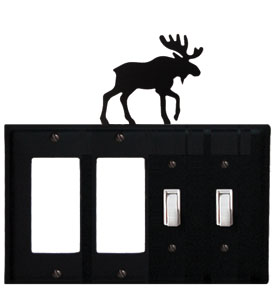 Moose - Double GFI and Double Switch Cover - CUSTOM Product - If Out Of Stock, Allow 4 to 6 Weeks