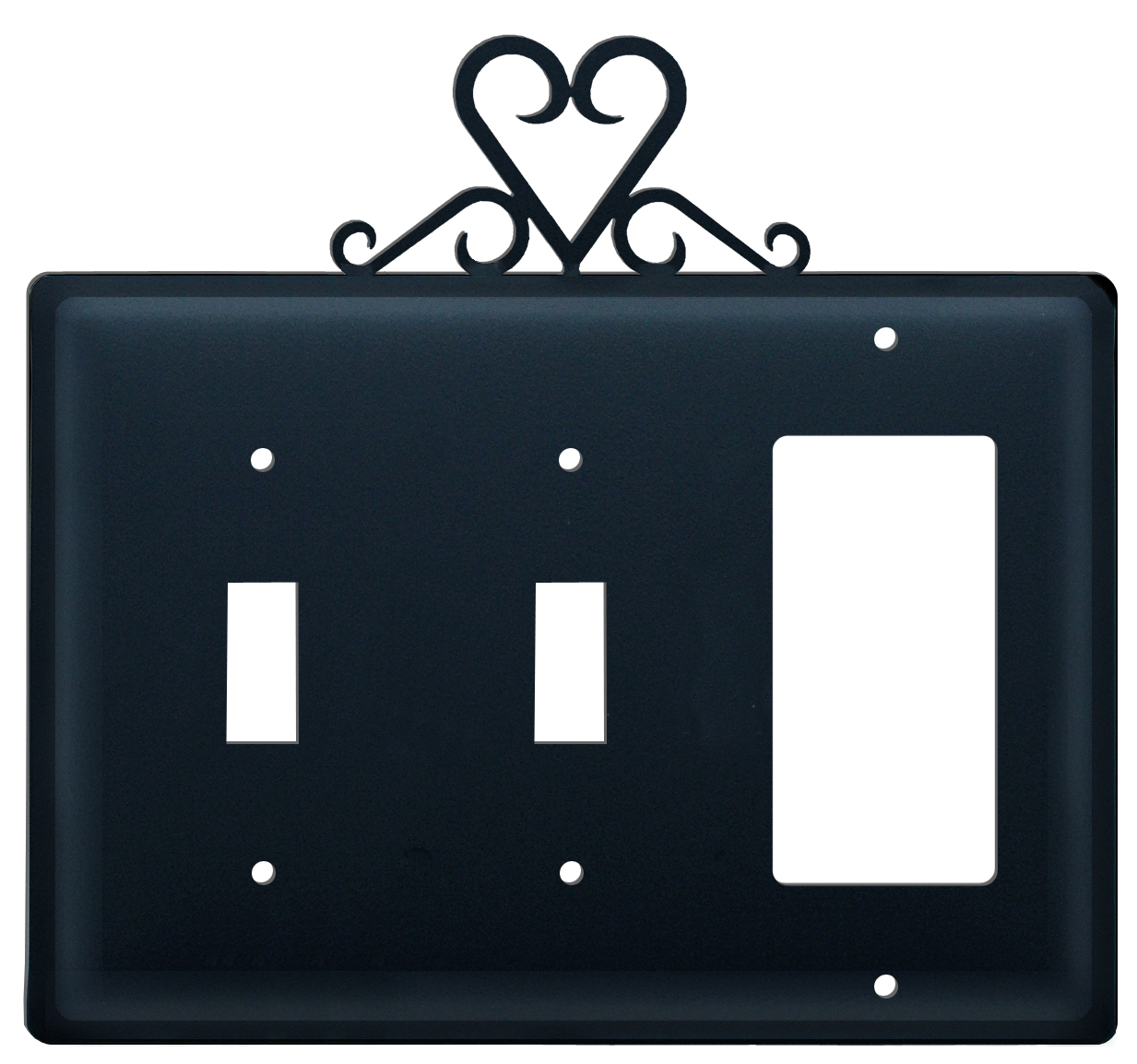 Heart -  Switch Cover Triple