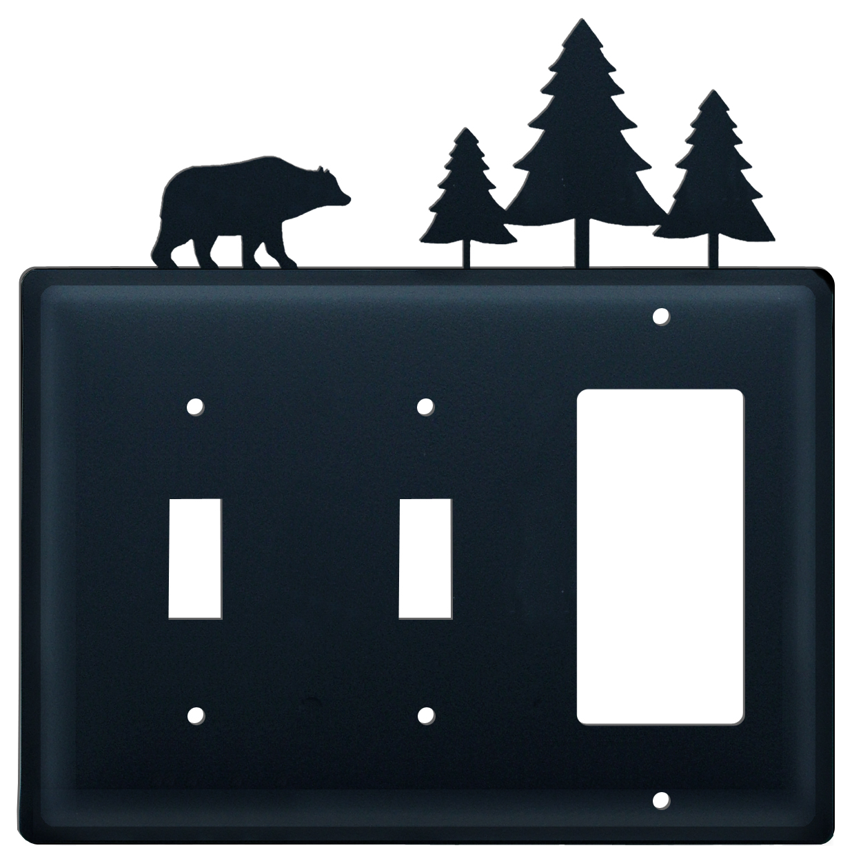 Bear & Pine Trees - Switch Cover Triple