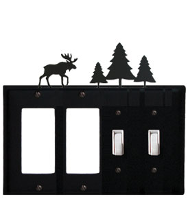 Moose & Pine Trees - Double GFI and Double Switch Cover