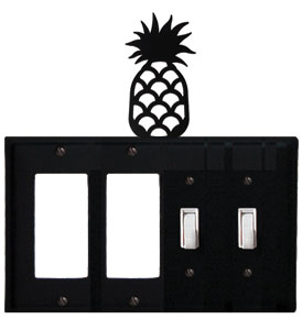 Pineapple - Double GFI and Double Switch Cover - CUSTOM Product - If Out Of Stock, Allow 4 to 6 Weeks