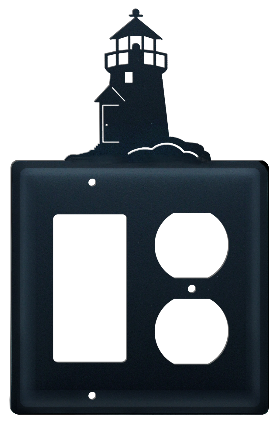 Village wrought iron lighthouse single switch gfi for Lighthouse switch plates