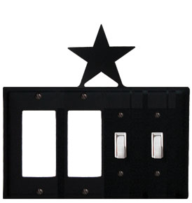 Star - Double GFI and Double Switch Cover - CUSTOM Product - If Out Of Stock, Allow 4 to 6 Weeks