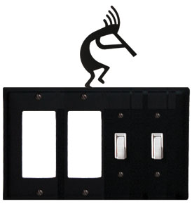 Kokopelli - Double GFI and Double Switch Cover - CUSTOM Product - If Out Of Stock, Allow 4 to 6 Weeks