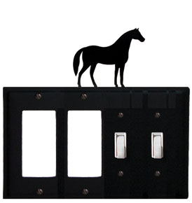 Horse - Double GFI and Double Switch Cover - CUSTOM Product - If Out Of Stock, Allow 4 to 6 Weeks