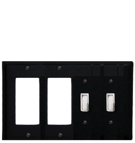 Plain - Double GFI and Double Switch Cover - CUSTOM Product - If Out Of Stock, Allow 4 to 6 Weeks
