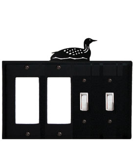 Loon - Double GFI and Double Switch Cover - CUSTOM Product - If Out Of Stock, Allow 4 to 6 Weeks