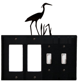 Heron - Double GFI and Double Switch Cover