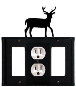 Deer - Single GFI, Outlet and GFI Cover