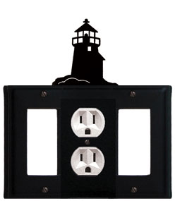 Lighthouse - Single GFI, Outlet and GFI Cover - CUSTOM Product - If Out Of Stock, Allow 4 to 6 Weeks