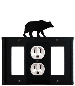 Bear - Single GFI, Outlet and GFI Cover - CUSTOM Product - If Out Of Stock, Allow 4 to 6 Weeks