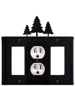 Pine Trees - Single GFI, Outlet and GFI Cover - CUSTOM Product - If Out Of Stock, Allow 4 to 6 Weeks