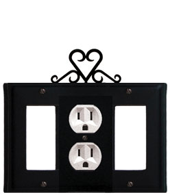 Heart - Single GFI, Outlet and GFI Cover
