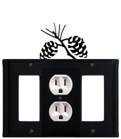 Pinecone - Single GFI, Outlet and GFI Cover