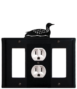 Loon - Single GFI, Outlet and GFI Cover - CUSTOM Product - If Out Of Stock, Allow 4 to 6 Weeks