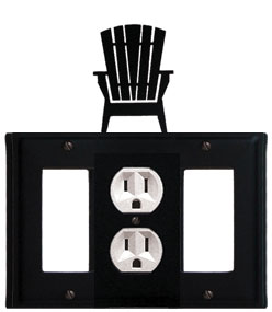 Adirondack - Single GFI, Outlet and GFI Cover - CUSTOM Product - If Out Of Stock, Allow 4 to 6 Weeks