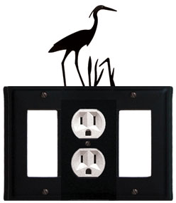 Heron - Single GFI, Outlet and GFI Cover - CUSTOM Product - If Out Of Stock, Allow 4 to 6 Weeks