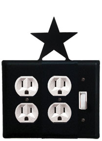 Star - Double Outlet and Single Switch Cover - CUSTOM Product - If Out Of Stock, Allow 4 to 6 Weeks