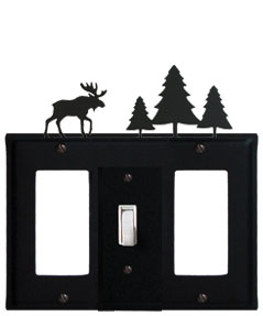 Moose & Pine Trees - Single GFI, Switch and GFI Cover