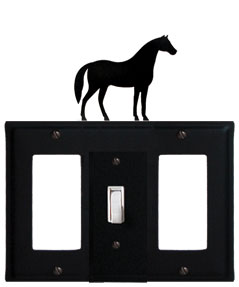 Horse - Single GFI, Switch and GFI Cover - CUSTOM Product - If Out Of Stock, Allow 4 to 6 Weeks