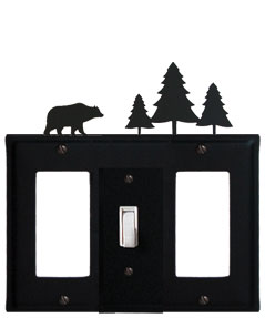 Bear & Pine Trees - Single GFI, Switch and GFI Cover