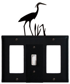 Heron - Single GFI, Switch and GFI Cover