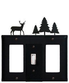 Deer & Pine Trees - Single GFI, Switch and GFI Cover