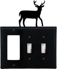 Deer - Single GFI and Double Switch Cover