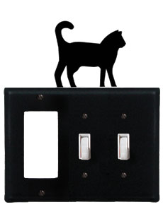 Cat - Single GFI and Double Switch Cover
