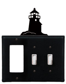 Lighthouse - Single GFI and Double Switch Cover