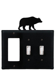 Bear - Single GFI and Double Switch Cover