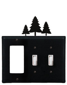 Pine Trees - Single GFI and Double Switch Cover