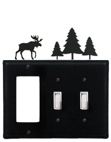Moose & Pine Trees - Single GFI and Double Switch Cover