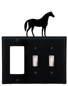 Horse - Single GFI and Double Switch Cover - CUSTOM Product - If Out Of Stock, Allow 4 to 6 Weeks