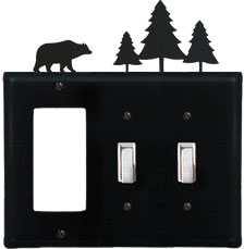 Bear & Pine Trees - Single GFI and Double Switch Cover