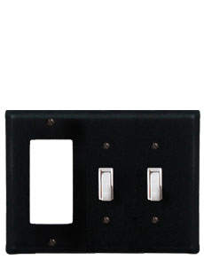 Plain - Single GFI and Double Switch Cover