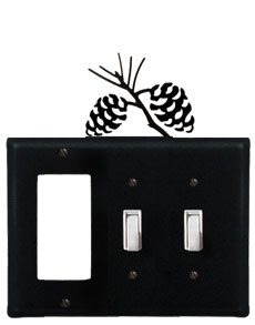 Pinecone - Single GFI and Double Switch Cover
