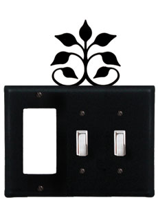 Leaf Fan - Single GFI and Double Switch Cover