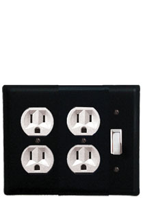 Plain - Double Outlet and Single Switch Cover - CUSTOM Product - If Out Of Stock, Allow 4 to 6 Weeks