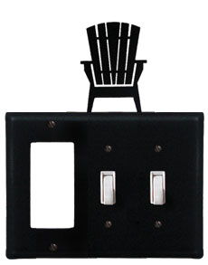 Adirondack - Single GFI and Double Switch Cover