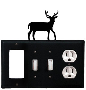 Deer - Single GFI, Double Switch and Single Outlet Cover - CUSTOM Product - If Out Of Stock, Allow 4 to 6 Weeks