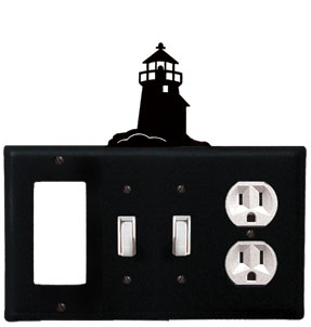 Lighthouse - Single GFI, Double Switch and Single Outlet Cover - CUSTOM Product - If Out Of Stock, Allow 4 to 6 Weeks