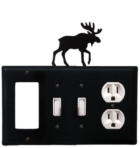 Moose - Single GFI, Double Switch and Single Outlet Cover - CUSTOM Product - If Out Of Stock, Allow 4 to 6 Weeks